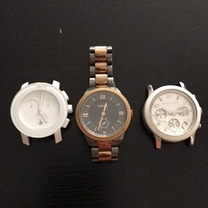 Watch Set: Movado, Fossil, Michael Kors
